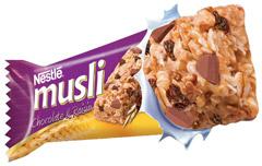 Baton Nestle Musli z czekoladą i rodzynkami