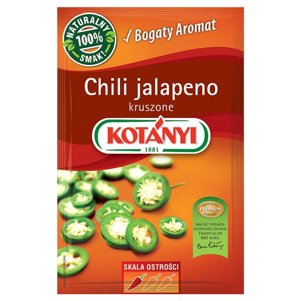 Kotányi Chili jalapeno kruszone 8 g