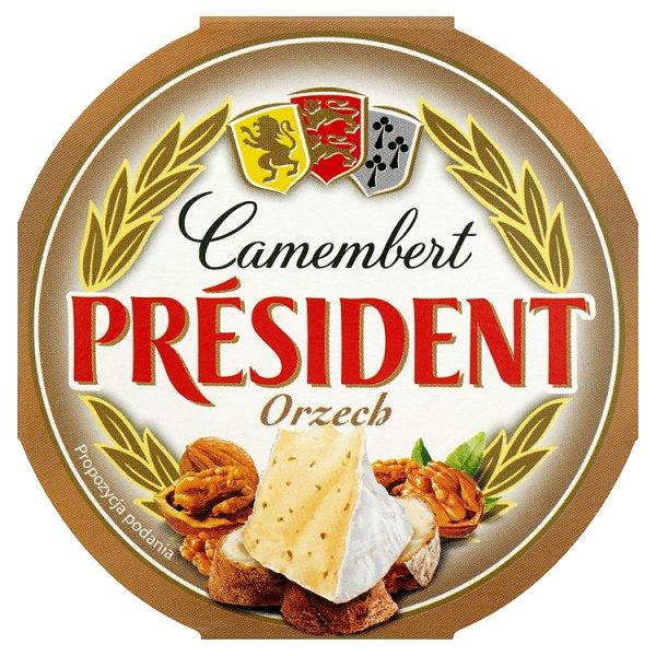 Président Camembert Orzech Ser 120 g
