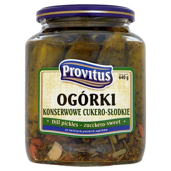 Provitus Ogórki konserwowe cukero słodkie 640 g