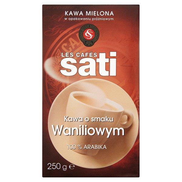 Cafe Sati Kawa palona mielona o smaku waniliowym 250 g
