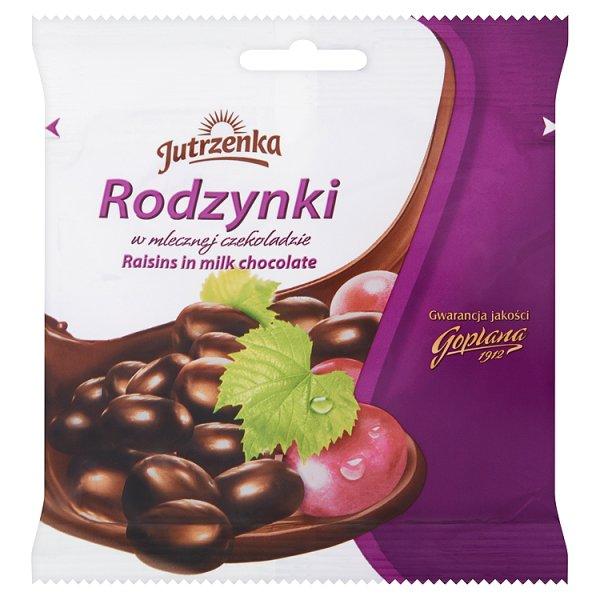 Jutrzenka Rodzynki w mlecznej czekoladzie 80 g