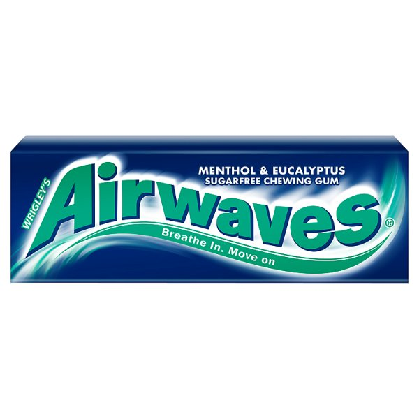 Airwaves Menthol & Eucalyptus Guma do żucia bez cukru 14 g (10 drażetek)