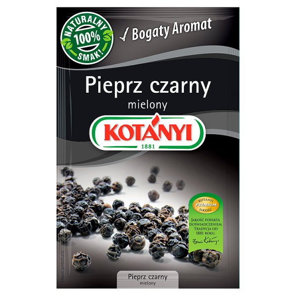 Kotányi Pieprz czarny mielony 20 g