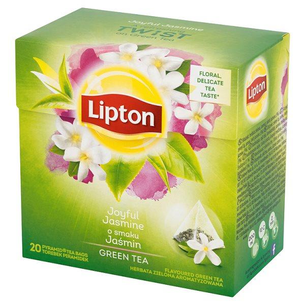 Lipton o smaku Jaśmin Herbata zielona aromatyzowana 34 g (20 torebek)