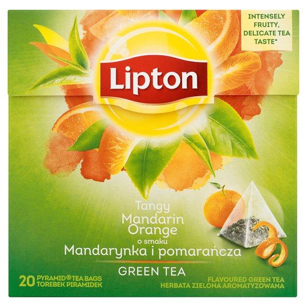 Lipton o smaku Mandarynka i pomarańcza Herbata zielona aromatyzowana 36 g (20 torebek)
