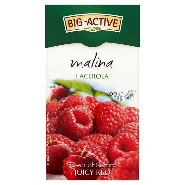 Big-Active Power of Nature Juicy Red malina i acerola Herbatka 45 g (20 torebek)
