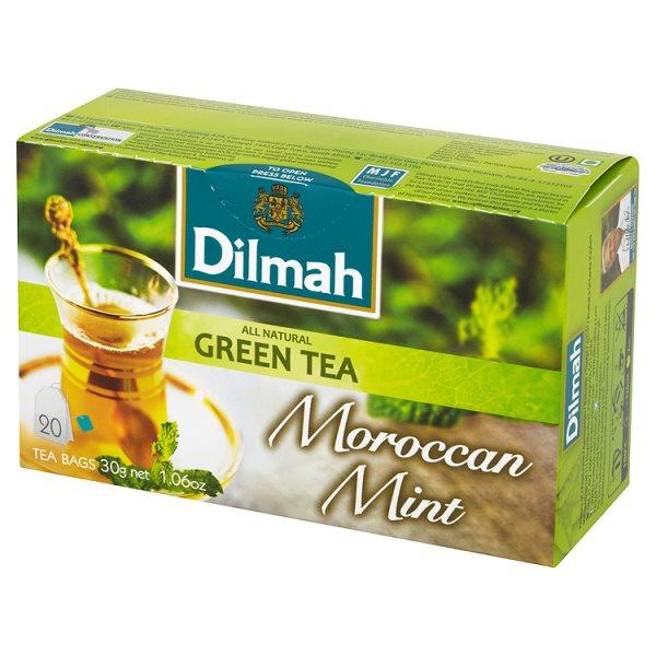 Dilmah Moroccan Mint Zielona herbata z liśćmi mięty 30 g (20 torebek)
