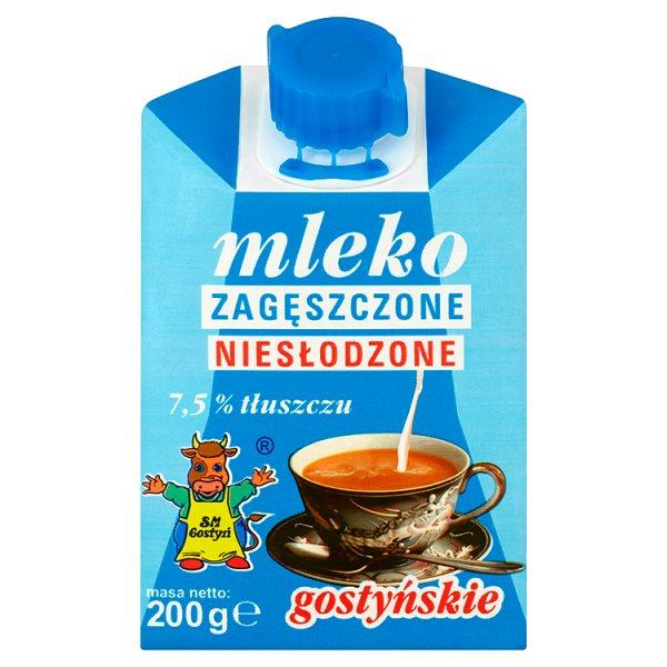 SM Gostyń Mleko gostyńskie zagęszczone niesłodzone 7,5% 200 g