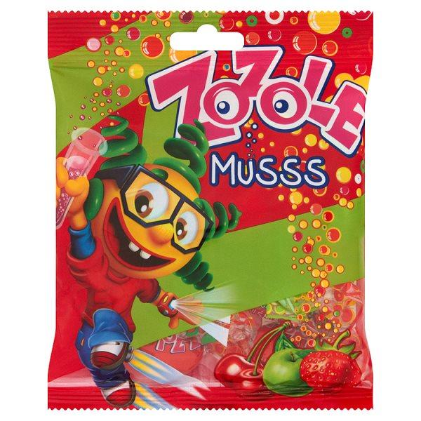Zozole Musss Karmelki o smaku jabłkowym truskawkowym i wiśniowym z nadzieniem musującym 75 g