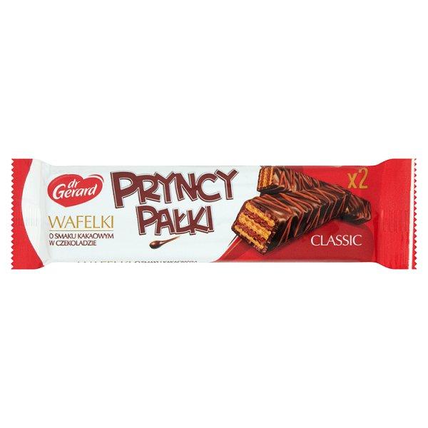 dr Gerard PryncyPałki classic Wafelki o smaku kakaowym w czekoladzie 21 g (2 sztuki)