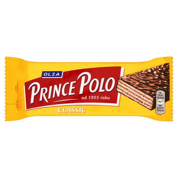 Olza Prince Polo Classic Kruchy wafelek z kremem kakaowym oblany czekoladą 35 g