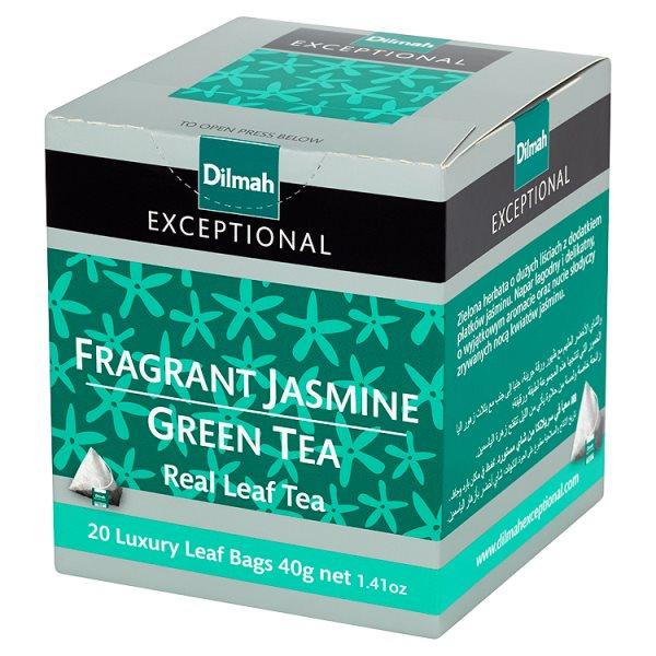Dilmah Exceptional Zielona herbata z kwiatami jaśminu 40 g (20 torebek)