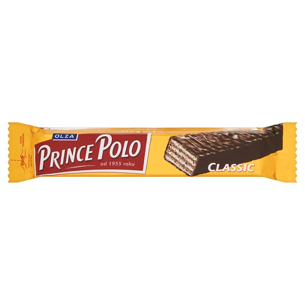 Olza Prince Polo Classic Kruchy wafelek z kremem kakaowym oblany czekoladą 17,5 g