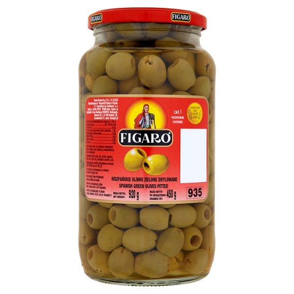 Figaro Hiszpańskie oliwki zielone drylowane 920 g