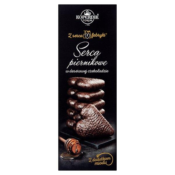 Kopernik Z serca fabryki Serca piernikowe w deserowej czekoladzie z dodatkiem miodu 128 g