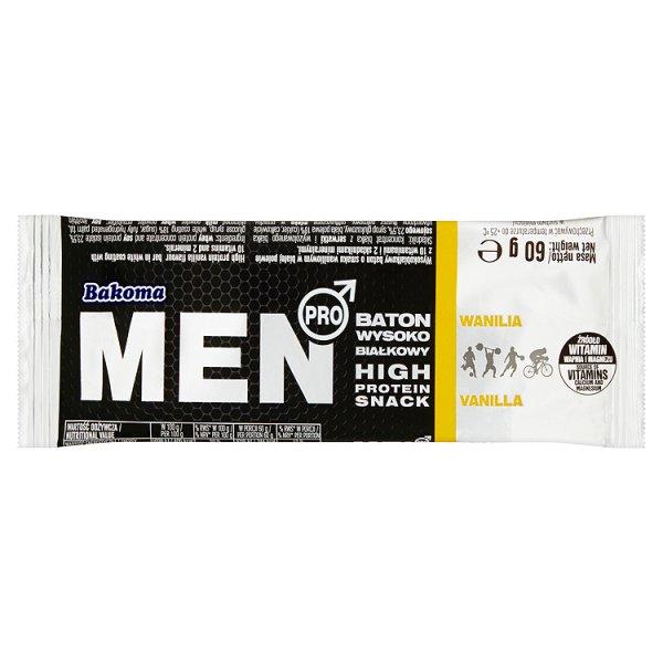 Bakoma Men Pro Baton wysokobiałkowy wanilia 60 g