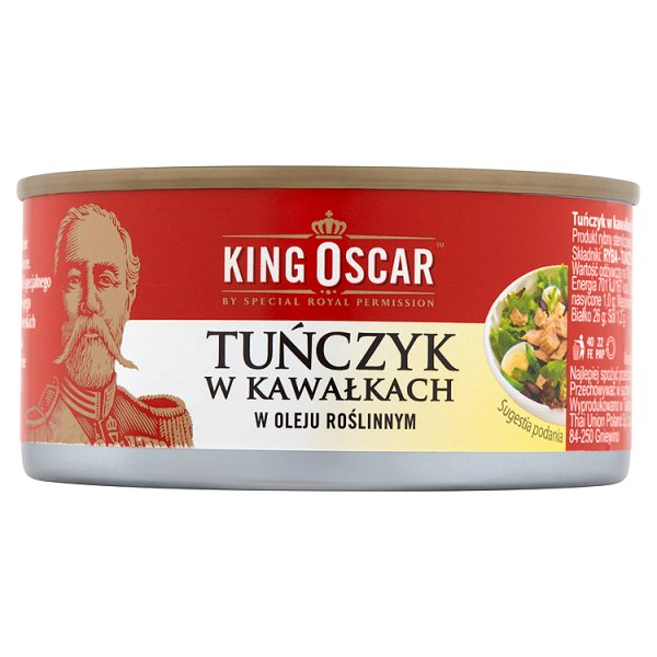 King Oscar Tuńczyk w kawałkach w oleju roślinnym 170 g