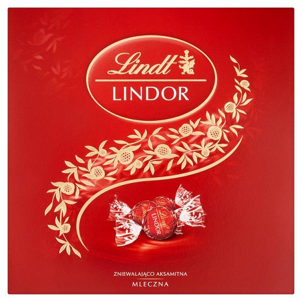 Lindt Lindor Pralinki z czekolady mlecznej z nadzieniem 150 g