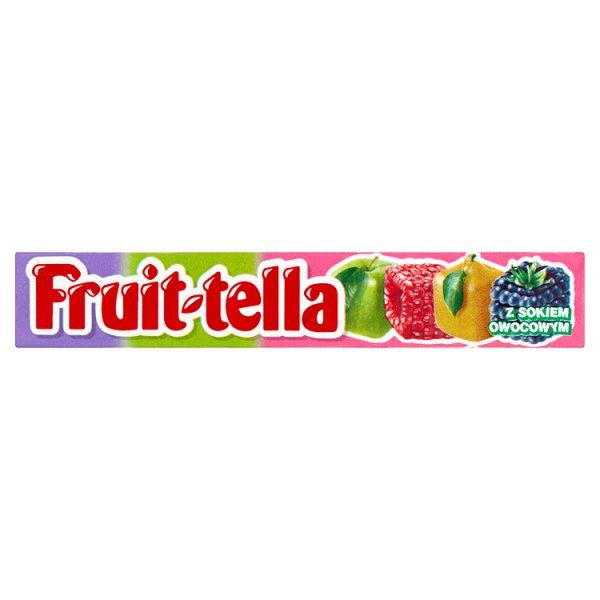 Fruittella Owocowy Ogród Cukierki do żucia o smaku jabłkowym gruszkowym malinowym i jeżynowym 41 g