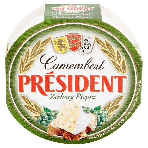 Président Camembert zielony pieprz Ser pełnotłusty 120 g