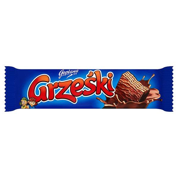 Grześki Wafel przekładany kremem kakaowym w czekoladzie 36 g