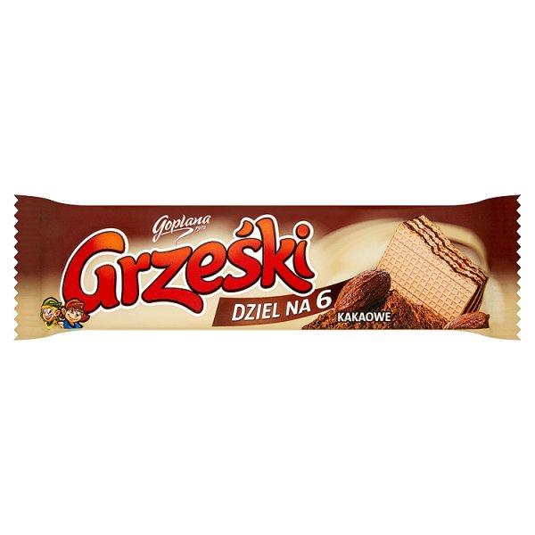 Grześki Dziel na 6 Kakaowe Wafel przekładany kremem kakaowym 26 g