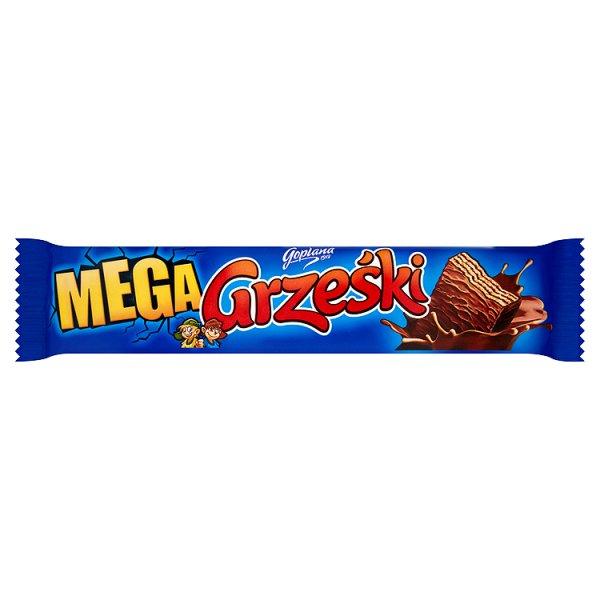 Grześki Mega Wafel przekładany kremem kakaowym w czekoladzie 48 g
