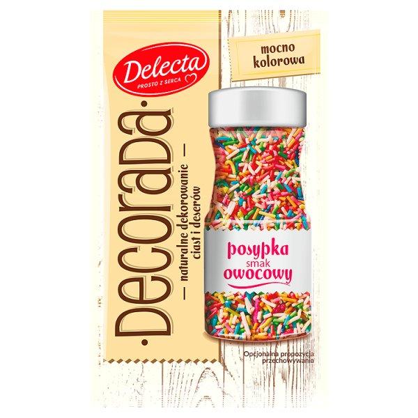 Delecta Decorada Posypka smak owocowy 30 g