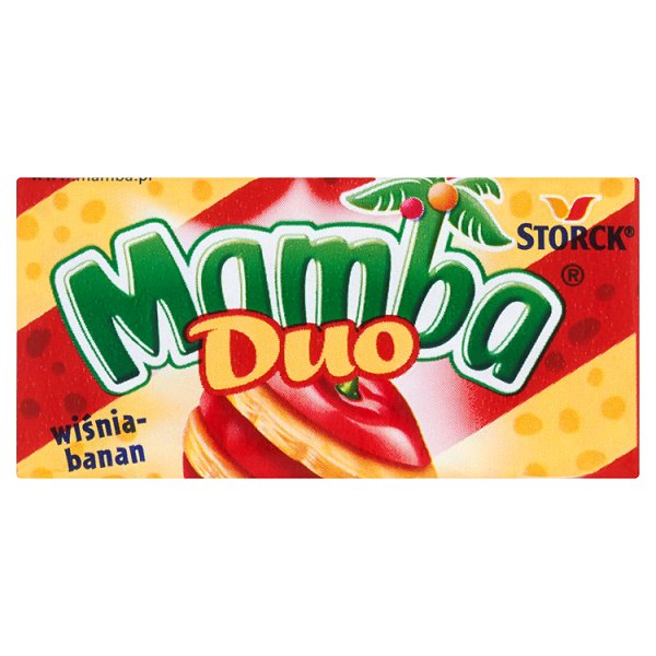 Mamba Duo wiśnia-banan Gumy rozpuszczalne 26,5 g (6 sztuk)