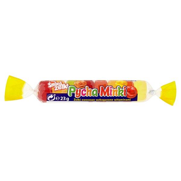 nimm2 Śmiejżelki Pycha Minki Żelki owocowe wzbogacone witaminami 23 g