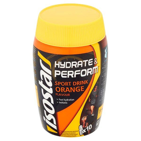Isostar Hydrate & Perform Preparat w proszku do przygotowania napoju smak pomarańczowy 400 g
