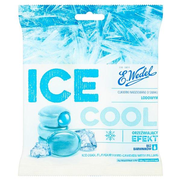 E. Wedel Ice Cool Cukierki nadziewane o smaku lodowym 90 g