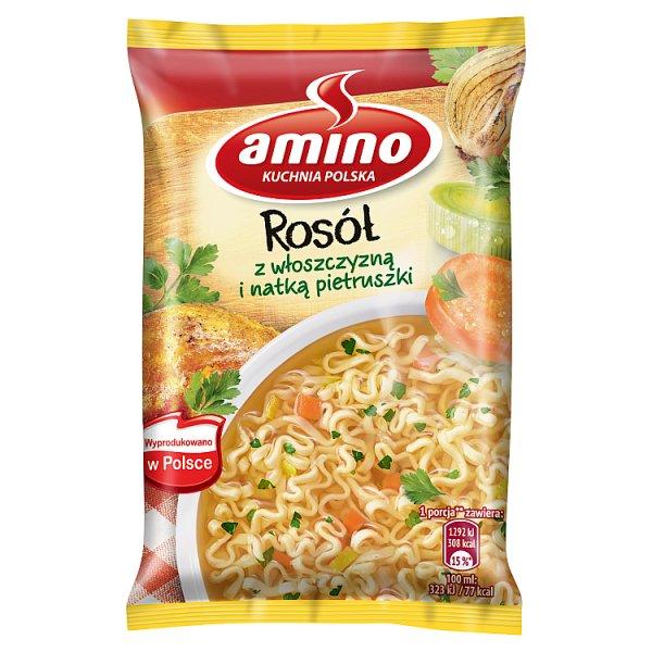 Amino Zupa błyskawiczna rosół z włoszczyzną i natką pietruszki 59 g