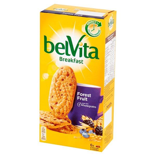 belVita Breakfast Ciastka zbożowe z owocami leśnymi 300 g (6 x 50 g)
