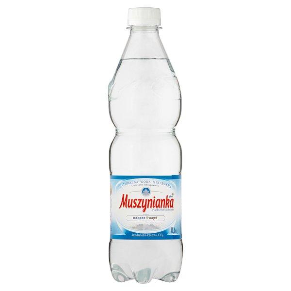 Muszynianka plus Naturalna woda mineralna wysokozmineralizowana średnionasycona CO2 0,6 l