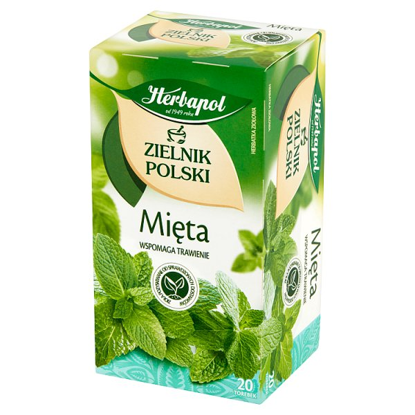 Herbapol Zielnik Polski Herbatka ziołowa mięta 40 g (20 x 2 g)
