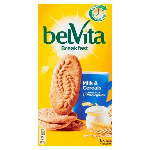 belVita Breakfast Ciastka zbożowe z mlekiem 300 g (6 x 50 g)