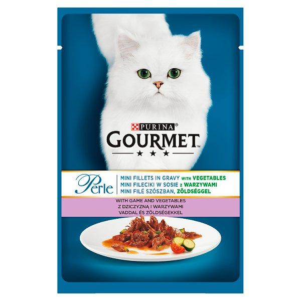 Gourmet Perle Karma dla kotów mini fileciki z dziczyzną i warzywami 85 g