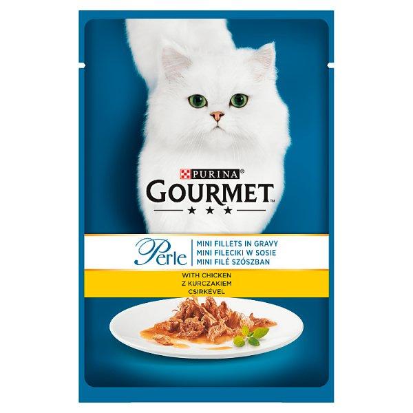 Gourmet Perle Karma dla kotów mini fileciki w sosie z kurczakiem 85 g