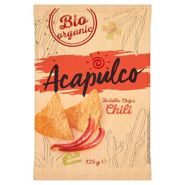 Acapulco Chipsy kukurydziane smażone o smaku chilli pikantne 125 g