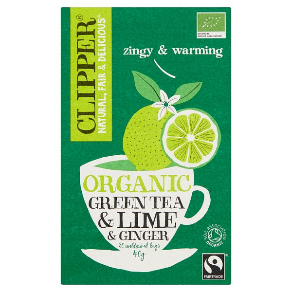 Clipper Herbata imbirowo-limonkowa organiczna 40 g (20 torebek)