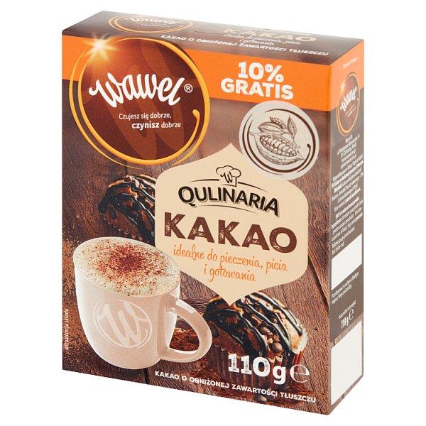 Wawel Qulinaria Kakao o obniżonej zawartości tłuszczu 110 g
