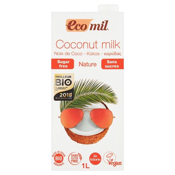 EcoMil Napój kokosowy bez cukru 1 l
