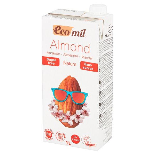 EcoMil Napój migdałowy bez cukru 1 l