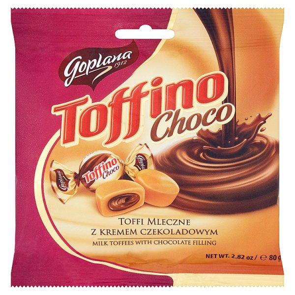 Goplana Toffino Choco Toffi mleczne z kremem czekoladowym 80 g