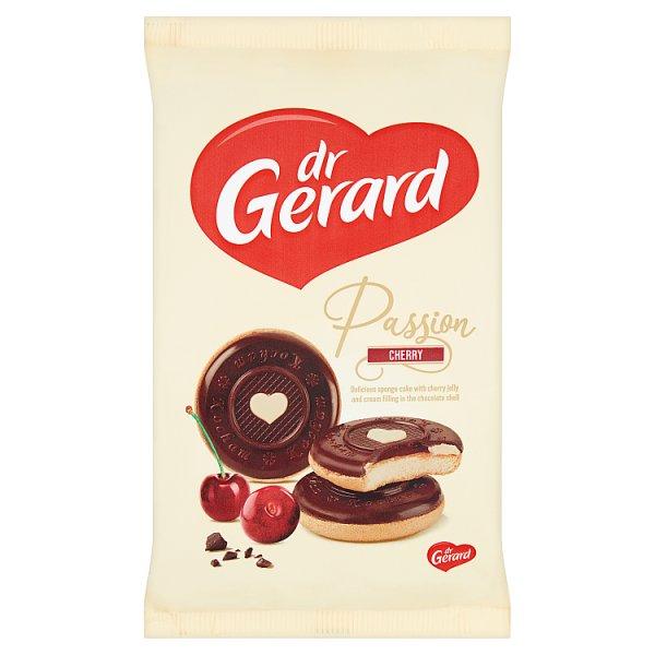dr Gerard Pasja Wiśnia Biszkopty z galaretką wiśniową kremem śmietankowym i czekoladą 150 g