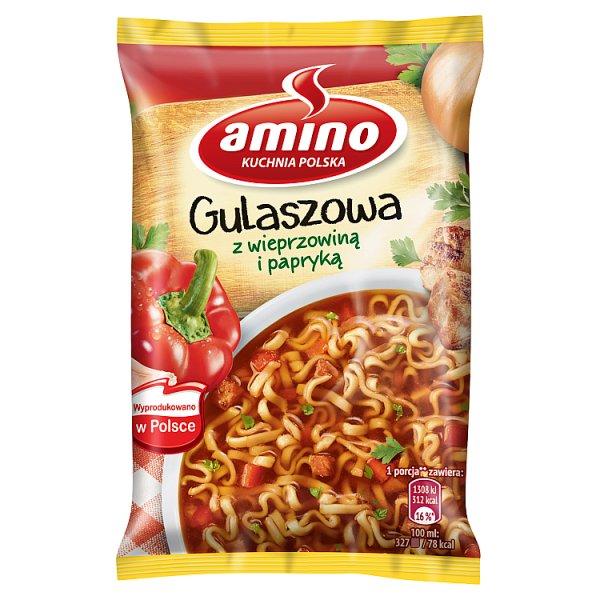 Amino Zupa błyskawiczna gulaszowa z wieprzowiną i papryką 59 g