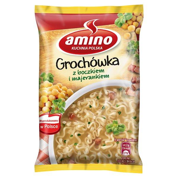 Amino Zupa błyskawiczna grochówka z boczkiem i majerankiem 65 g