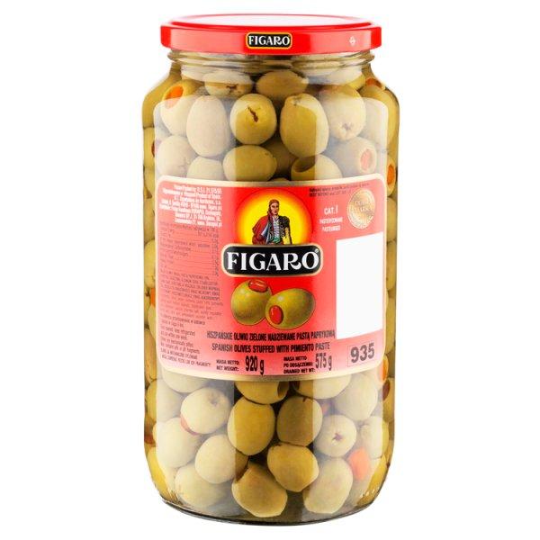 Figaro Hiszpańskie oliwki zielone nadziewane pastą paprykową 920 g